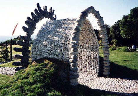 ساخت نما ورودی با سنگ پوکه