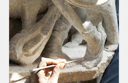 کاربرد سنگ آتشفشانی برای مجسمه سازی